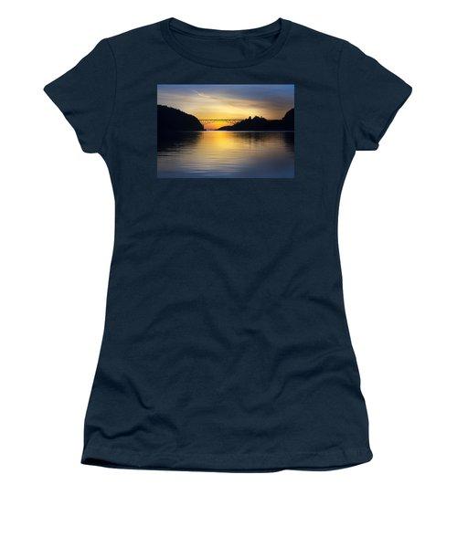 Deception Pass Bridge Women's T-Shirt (Athletic Fit)