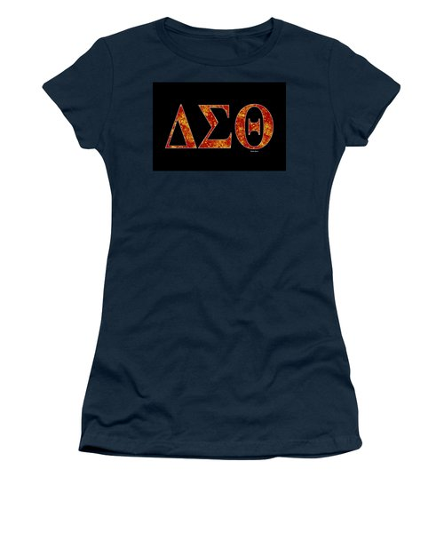 Delta Sigma Theta - Black Women's T-Shirt (Athletic Fit)