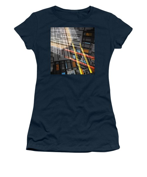 Diagonal Mondrian Women's T-Shirt (Athletic Fit)