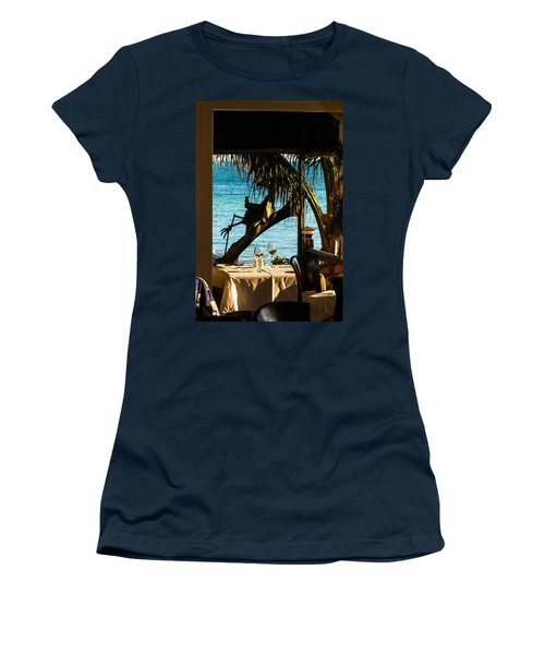 Dining For Two At Louie's Backyard Women's T-Shirt