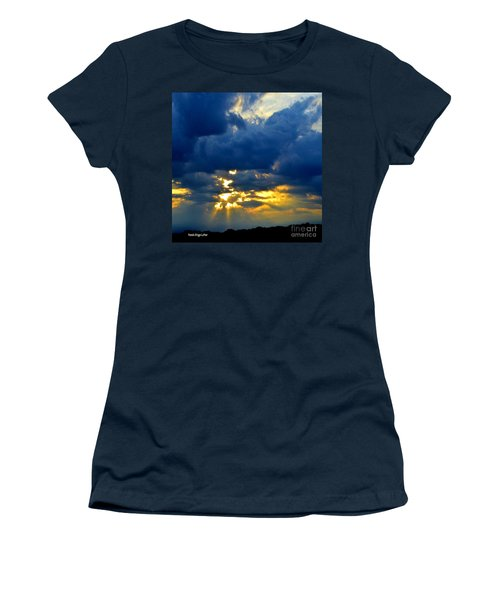 Dramatic Clouds Women's T-Shirt (Athletic Fit)