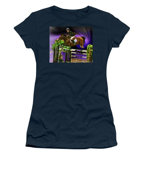 Duncan Mcfarlane On Horse Mr Whoopy Women's T-Shirt (Athletic Fit)