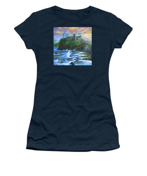 Dunscaith Castle - Shadows Of The Past Women's T-Shirt (Athletic Fit)