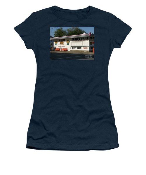 Eddie's Grill Women's T-Shirt (Junior Cut) by Michael Krek
