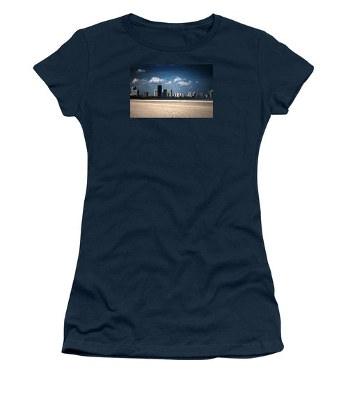 Women's T-Shirt (Junior Cut) featuring the photograph Edgewater by Milena Ilieva