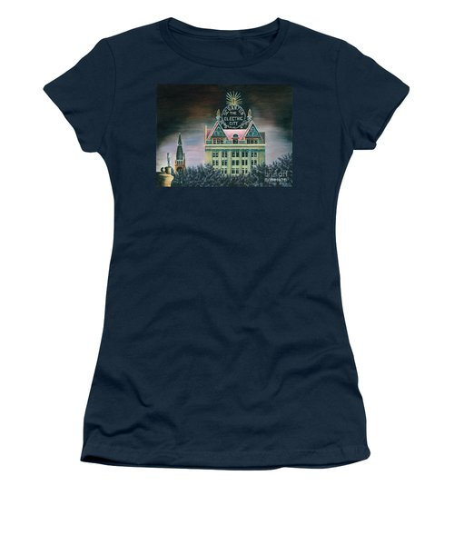 Electric City At Night Women's T-Shirt