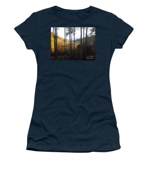 Women's T-Shirt (Junior Cut) featuring the painting Ellijay Color by Jan Dappen