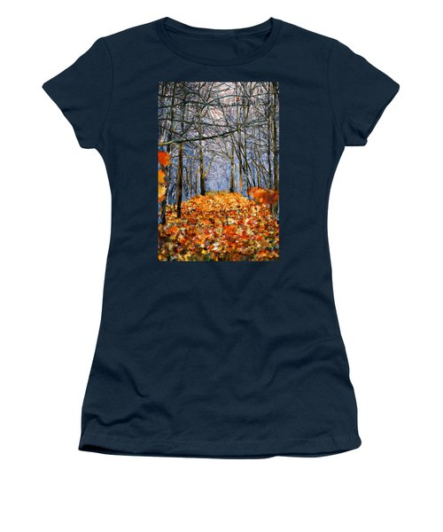 End Of Autumn Women's T-Shirt (Junior Cut) by Bruce Nutting