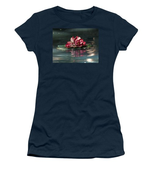 Women's T-Shirt (Junior Cut) featuring the photograph Exquisite Water Flower  by Lucinda Walter