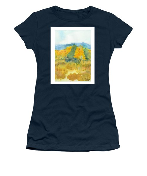 Women's T-Shirt (Junior Cut) featuring the painting Fall Trees by C Sitton
