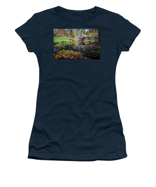Fallen Leaves At Mabry Mill Women's T-Shirt (Athletic Fit)