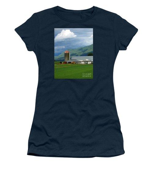 Farm In The Valley Women's T-Shirt (Junior Cut) by Ann Horn