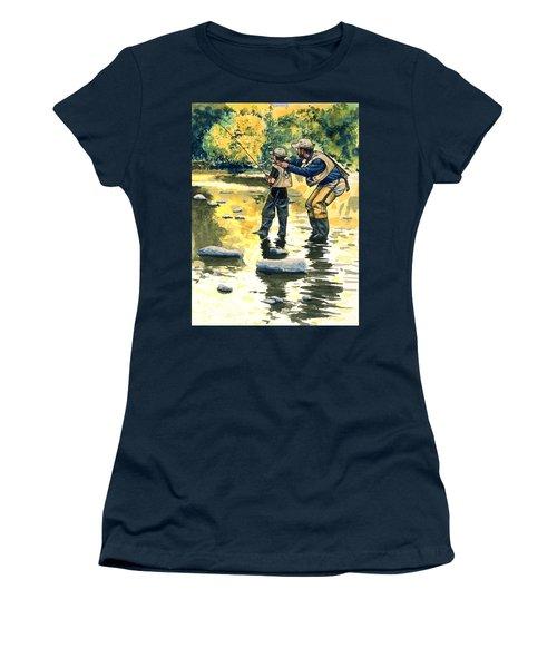 Father And Son Women's T-Shirt (Junior Cut) by John D Benson