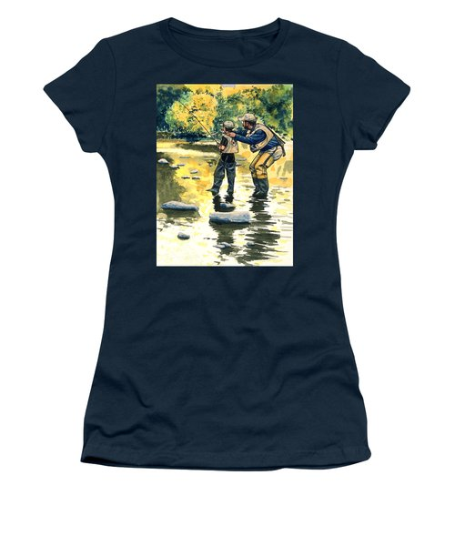 Father And Son Women's T-Shirt (Athletic Fit)