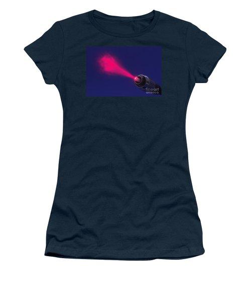 Fiber Emitting Laser Light Women's T-Shirt