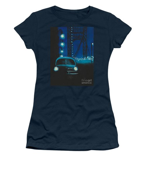 Film Noir In Blue #1 Women's T-Shirt