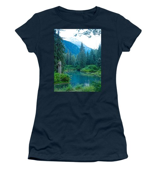 Fish Creek In Tongass National Forest By Hyder-ak  Women's T-Shirt (Junior Cut) by Ruth Hager
