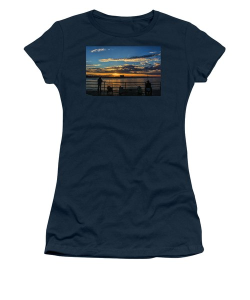 Women's T-Shirt (Junior Cut) featuring the photograph Fishermen Morning by Tammy Espino