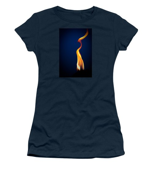 Women's T-Shirt featuring the pyrography Flame by Darryl Dalton