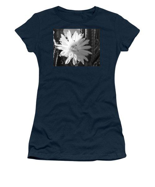 Flowering Cactus 5 Bw Women's T-Shirt