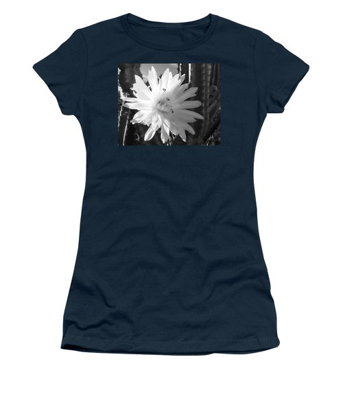 Flowering Cactus 5 Bw Women's T-Shirt