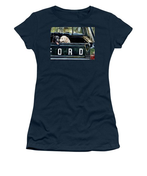 For Our Retriever Dogs Women's T-Shirt (Junior Cut) by Molly Poole