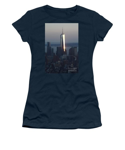 Freedom Tower Women's T-Shirt (Junior Cut) by John Telfer