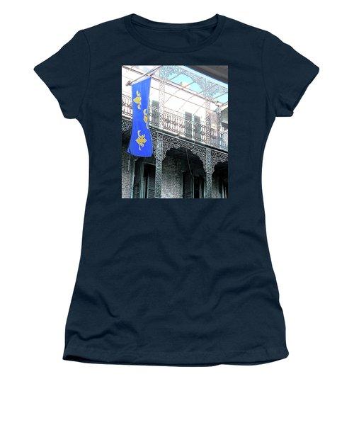 Women's T-Shirt (Junior Cut) featuring the photograph French Quarter Nola by Lizi Beard-Ward