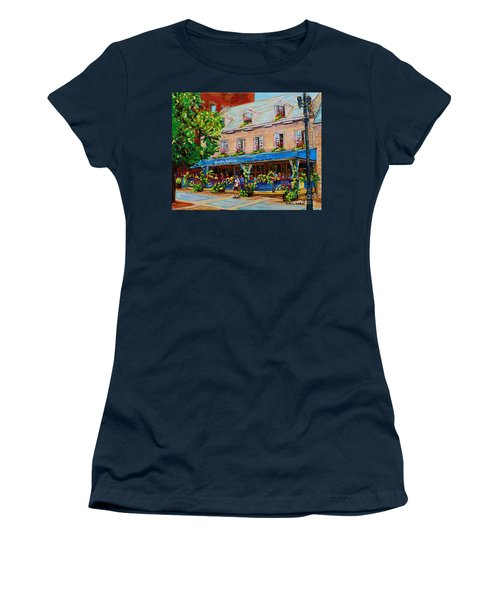 French Restaurant Jardin Nelson Paris Style Bistro Place Jacques Cartier Terrace Garden C Spandau   Women's T-Shirt