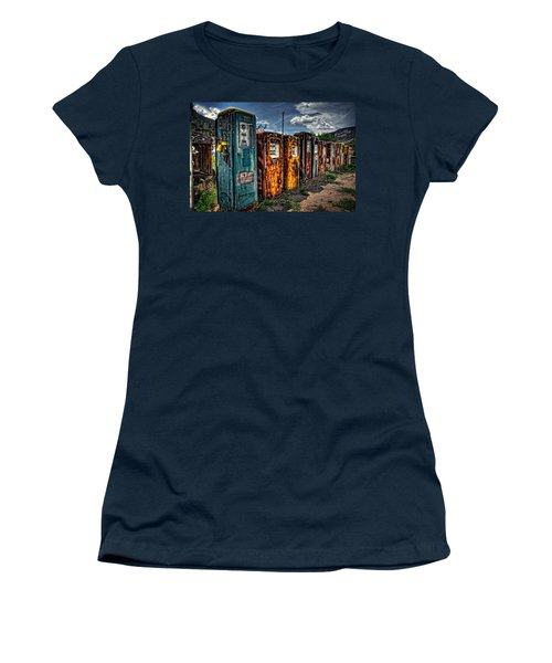 Women's T-Shirt (Junior Cut) featuring the photograph Gasoline Alley by Ken Smith