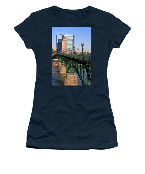 Gay Street Bridge Knoxville Women's T-Shirt (Junior Cut) by Melinda Fawver