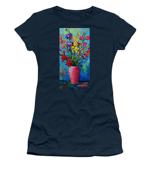 Gladioli In A Vase Women's T-Shirt (Athletic Fit)