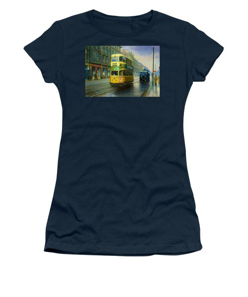 Glasgow Tram. Women's T-Shirt (Athletic Fit)