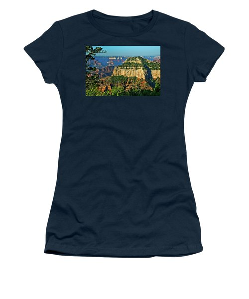 Women's T-Shirt (Junior Cut) featuring the photograph Grand Canyon Peak Angel Point by Bob and Nadine Johnston