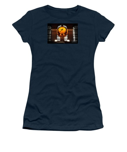 Grand Old Clock At Grand Central Station - Front Women's T-Shirt (Junior Cut) by Miriam Danar