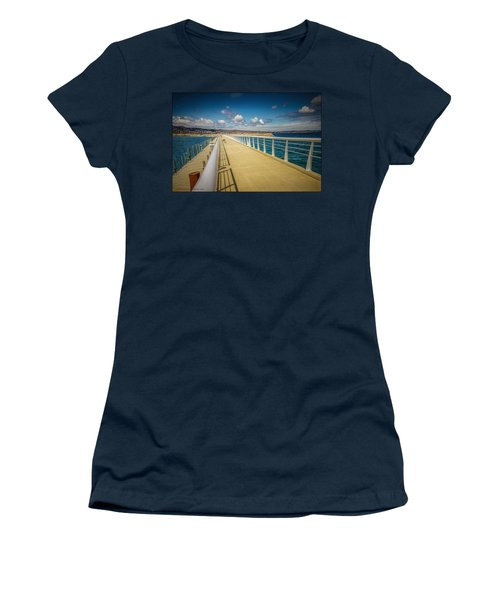 Grand Traverse Bay Women's T-Shirt (Athletic Fit)
