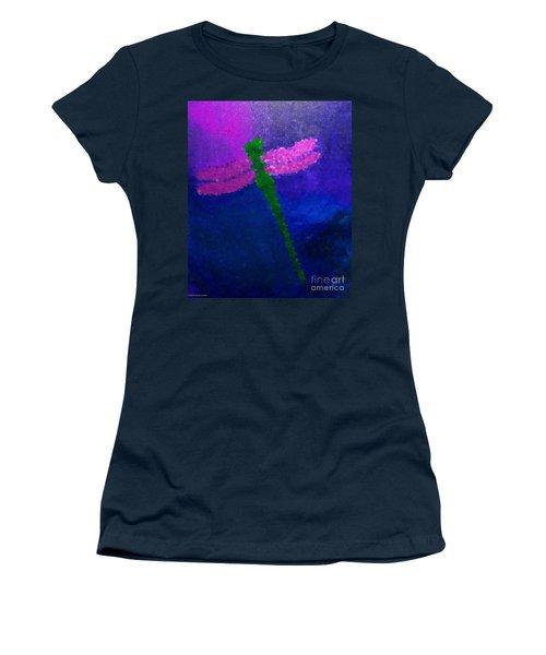 Green Dragonfly Women's T-Shirt (Junior Cut) by Anita Lewis