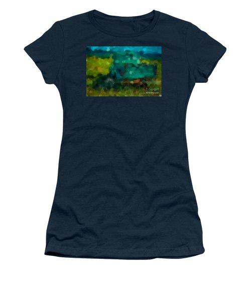 Green Truck In Abstract Women's T-Shirt