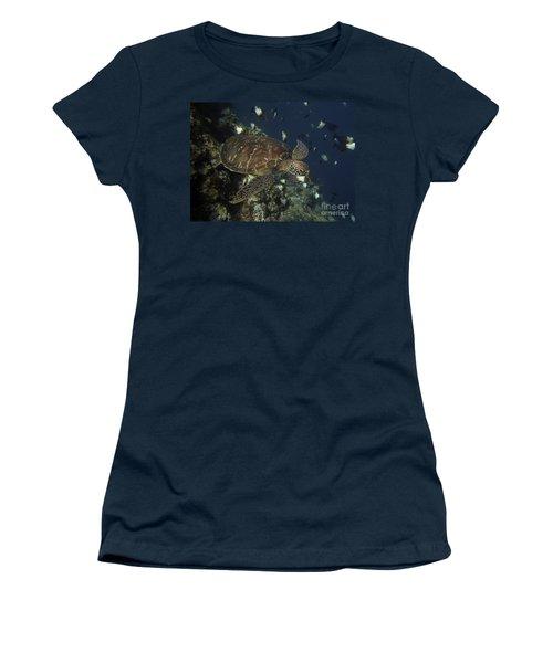 Hawksbill Turtle Women's T-Shirt (Junior Cut) by Sergey Lukashin