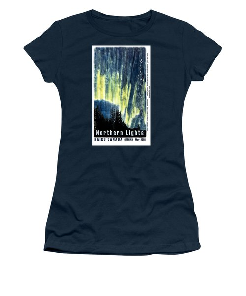 Women's T-Shirt (Junior Cut) featuring the photograph Haiga Poster Haiku Canada Conference  by Peter v Quenter