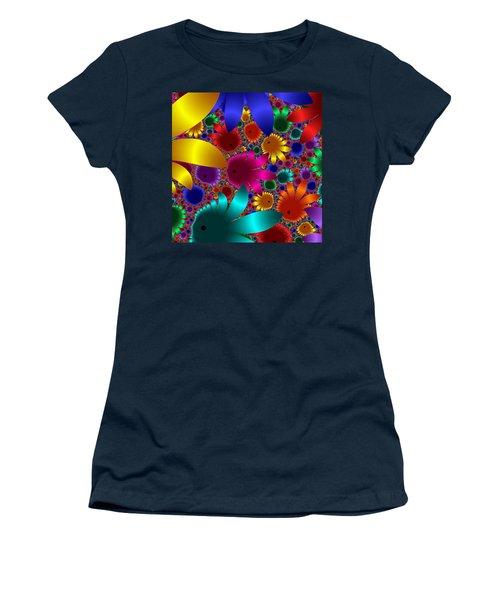 Happy Flowers Women's T-Shirt (Athletic Fit)