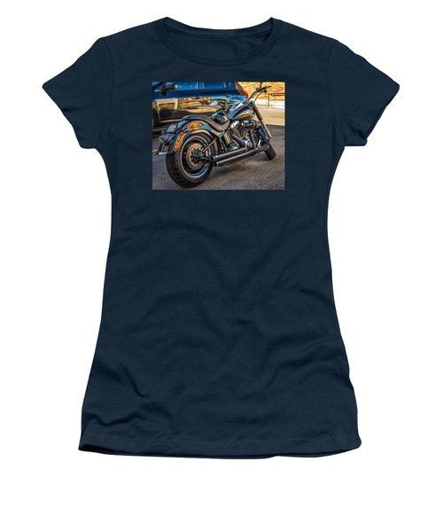Harley Davidson Women's T-Shirt (Junior Cut) by Steve Harrington