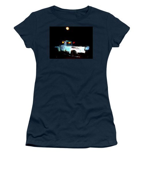 Women's T-Shirt (Junior Cut) featuring the digital art Haunted Truck by Cathy Anderson