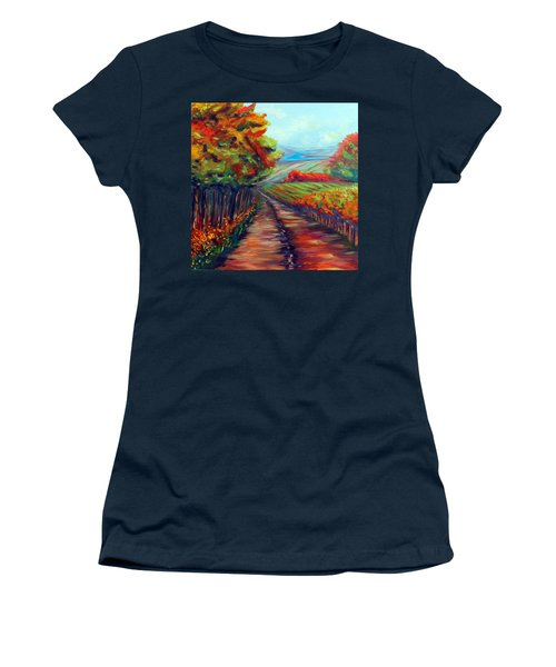 Women's T-Shirt (Junior Cut) featuring the painting He Walks With Me by Meaghan Troup