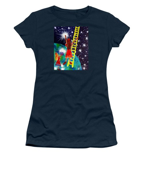 Women's T-Shirt (Junior Cut) featuring the painting Helping Hands by Jackie Carpenter