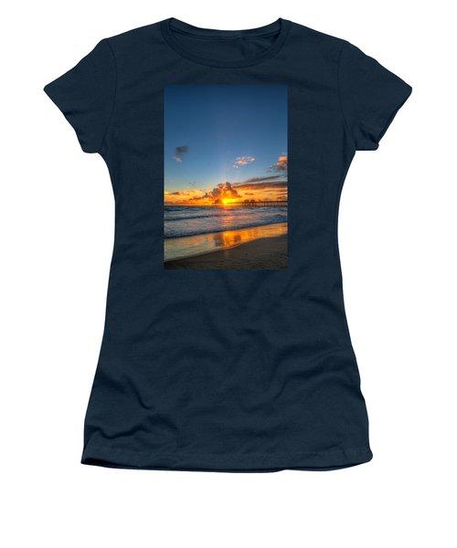 Hiding Sunset Women's T-Shirt (Athletic Fit)
