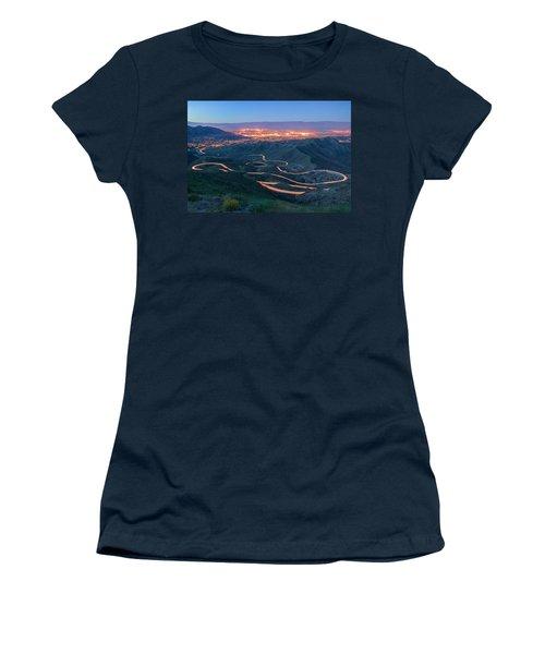 Highway 74 Palm Desert Ca Vista Point Light Painting Women's T-Shirt