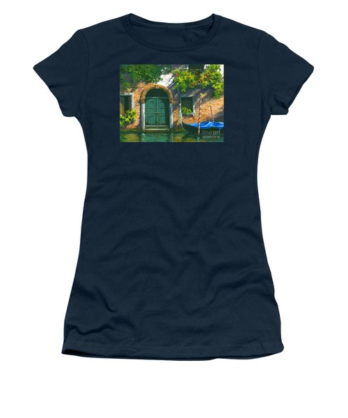 Women's T-Shirt (Junior Cut) featuring the painting Home Is Where The Heart Is by Michael Swanson