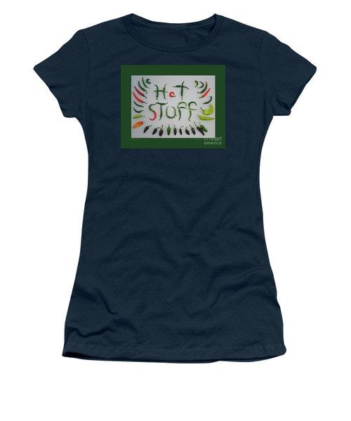 Hot Stuff Women's T-Shirt (Junior Cut) by Patricia Overmoyer