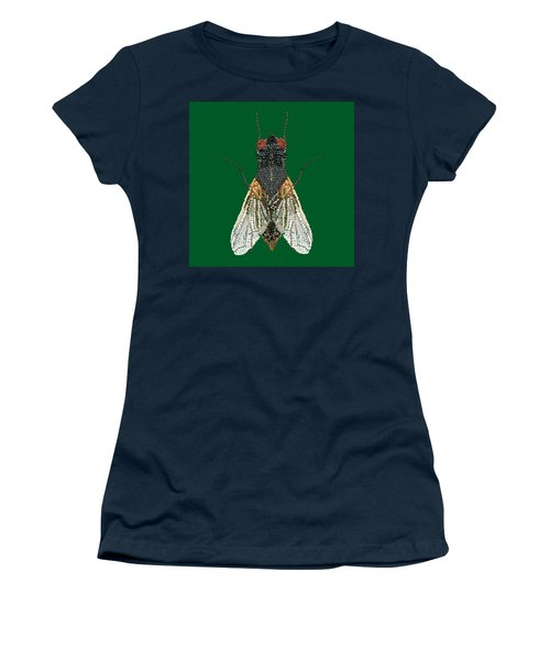 House Fly In Green Women's T-Shirt
